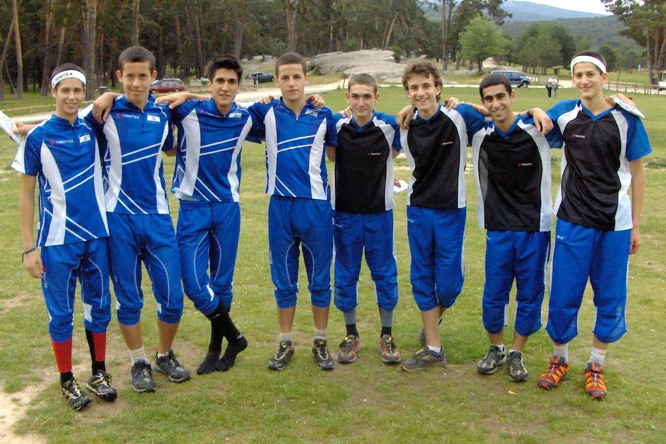 Israel Orienteering Team at EYOC 2010